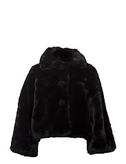 Faux Fur Jacket - 099 BLACK