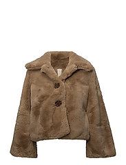 Faux Fur Jacket - 236 CAMEL