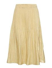 Plisse Midi Skirt - 342 GOLDEN