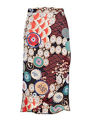 Patchwork Wrap Skirt - 816 BLEEKER BLACK