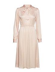 Satin Bowtie Dress - 044 POWDER