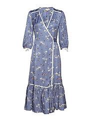 Contrast Wrap Dress - 798 NOVELTY