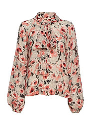 Semi Couture Bow Blouse - 787 ANEMONE