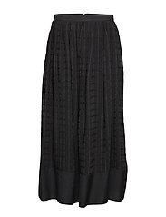 Classy Circle Skirt - BLACK