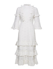 by Ti Mo Broderie Anglaise Frill Dress