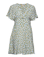 Smocking Mini Dress - SUNFLOWER