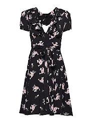 Openback Wrap Dress - SMALL BOUQUET