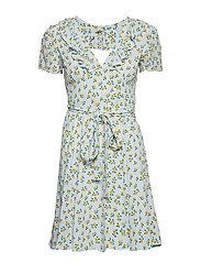 Openback Wrap Dress - SUNFLOWER