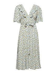 by Ti Mo Openback Midi Wrap Dress