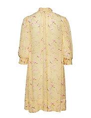 by Ti Mo - Delicate Semi A-Line Dress - midi dresses - yellow poppy - 1