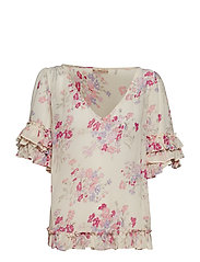 by Ti Mo Semi Couture Frill Top - FORGET ME NOT