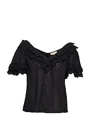 Broderie Anglaise Top - BLACK