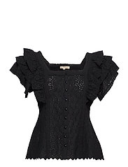 Broderie Anglaise Blouse - BLACK