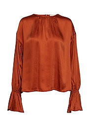 Satin Blouse - RUST