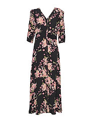Summer Rouching Gown - FLORA BLACK
