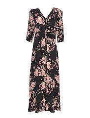 Summer Rouching Gown - FLORA BLACK