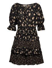 Bohemian Smocking Dress - NIGHT COMBO