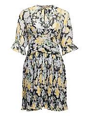 Chiffon Plisse Mini Dress - BLOOMING