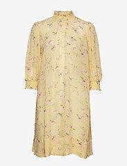 by Ti Mo - Delicate Semi A-Line Dress - midi dresses - yellow poppy - 0