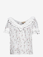 by Ti Mo - Broderie Anglaise Top - short-sleeved blouses - vintage flowers - 0