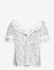 by Ti Mo - Broderie Anglaise Top - short-sleeved blouses - vintage flowers - 1
