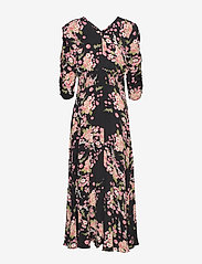 by Ti Mo - Summer Rouching Gown - maxiklänningar - flora black - 2