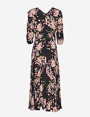 by Ti Mo - Summer Rouching Gown - maxiklänningar - flora black - 2