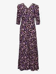 by Ti Mo - Pre Spring Rouch Dress - sommerkjoler - purple flowers - 0