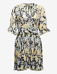 by Ti Mo - Chiffon Plisse Mini Dress - sommerkjoler - blooming - 0