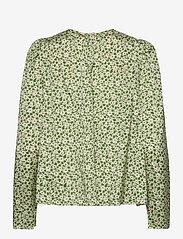 by Ti Mo - Delicate Top - langærmede bluser - green garden - 1