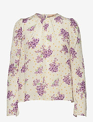 by Ti Mo - Delicate Top - langærmede bluser - sunny flowers - 0