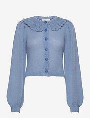 by Ti Mo - Mohair Knit Collar Cardigan - vesten - light blue - 0
