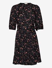 by Ti Mo - Delicate Wrap Dress - zomerjurken - rose field black - 0