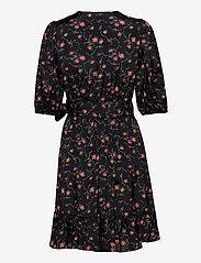 by Ti Mo - Delicate Wrap Dress - zomerjurken - rose field black - 1