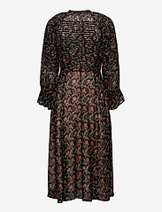 by Ti Mo - Georgette Midi Dress - sommerkjoler - dark wallpaper - 1