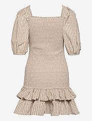 by Ti Mo - Checks Mini Smocking Dress - zomerjurken - beige checks - 1