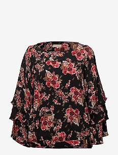 Printed Flared Blouse - 749 ROSE TAPESTRY