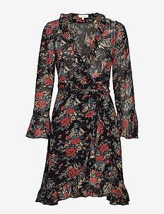 Semi Couture Wrap Dress - 786 BOUQUET