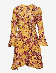 Semi Couture Wrap Dress - 789 WILD SCARLET