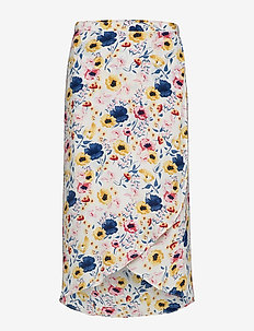 Wrap Skirt - FLORA WHITE