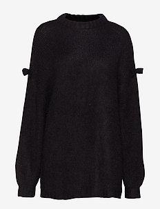 Hairy Knit Jumper - BLACK