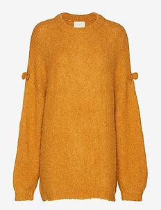 Hairy Knit Jumper - GOLDEN MUSTARD
