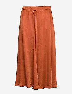 Satin Circle Skirt - RUST