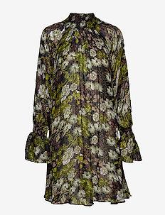Delicate Shift Dress - GREEN GARDEN