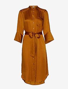 Satin Shirt Dress - MAPLE