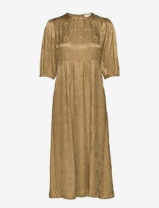 Jaquard Midi Dress - OLIVE