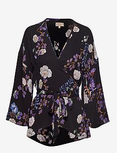 Vintage Drape Kimono Top - IRIS