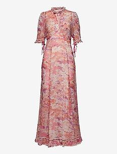 georgette lace gown - maxiklänningar - brightfield
