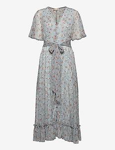 Chiffon Gown - midiklänningar - blue field