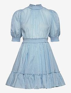 Victorian Organza Smocking Dress - korta klänningar - light blue